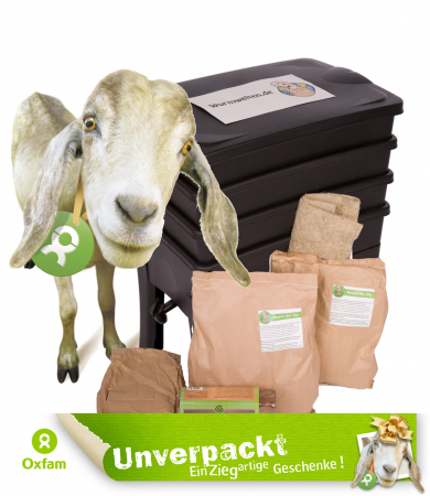 Oxfam Goat Wormery Set