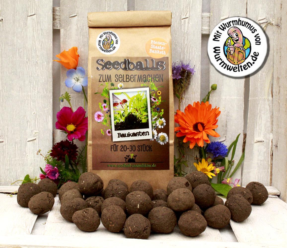 Seedball do it yourself kit honeybees for 20 30 seedballs seedballs diy kit with wormcast solutioingenieria Gallery